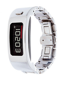 Garmin Vivofit 2 Silver-Tone Link Bracelet Digital Watch