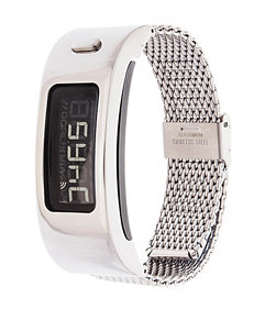 Garmin Vivofit 2 Silver-Tone Mesh Band Digital Watch