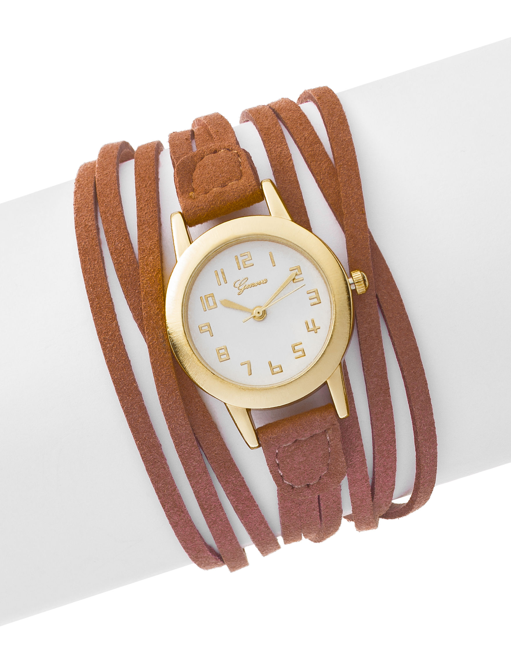 Global Time Tan Fashion Watches