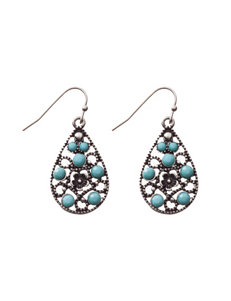 Hannah Grey Drops Earrings Fashion Jewelry