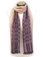 Cejon Yarn Dye Ombre Knit Wrap Scarf