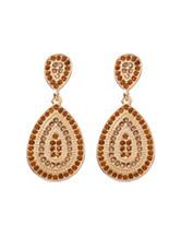 Hannah Yellow Teardrop Stones Earrings