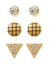 G by Guess Gold-Tone Question Mark Logo Stud Earring Set