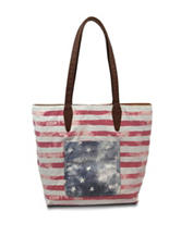 Bueno Faded Americana Print Reversible Tote Bag
