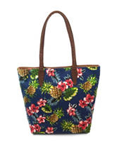Bueno Tropical Print Reversible Tote Bag