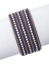 Signature Studio Rhinestone Statement Bracelet in Blue