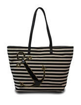 Bueno Anchor Striped Canvas Tote Bag
