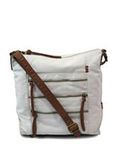 Bueno Two-Tone Washed Multi-Zip Crossbody Bag