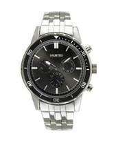 Unlisted Silver-Tone Black Accent Men's Watch