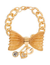 G by Guess Gold-Tone Mesh Bow Bracelet