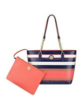 Anne Klein Double Time Striped Tote Bag