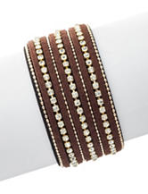 Signature Studio Brown Rhinestone Statement Bracelet