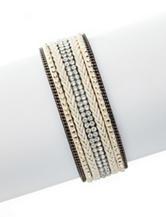 Signature Studio Mixed Texture Wrap Bracelet