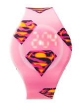Supergirl Pink LED Watch