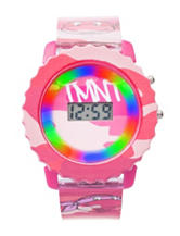 Nickelodeon Teenage Mutant Ninja Turtles Pink Flashing Lights Digital Watch