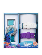 Disney Finding Dory Interchangeable Silicon Strap Watch Set
