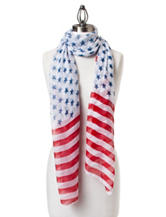 David & Young Stars with Stripe Border Scarf