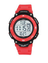 Armitron Chronograph Red Resin Strap Sport Digital Watch