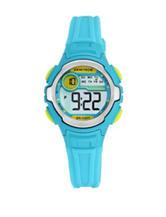 Armitron Sport Multifunction Light Blue Resin Strap Digital Watch