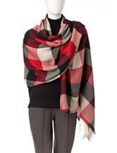 V. Fraas Lightweight Buffalo Plaid Blanket Wrap