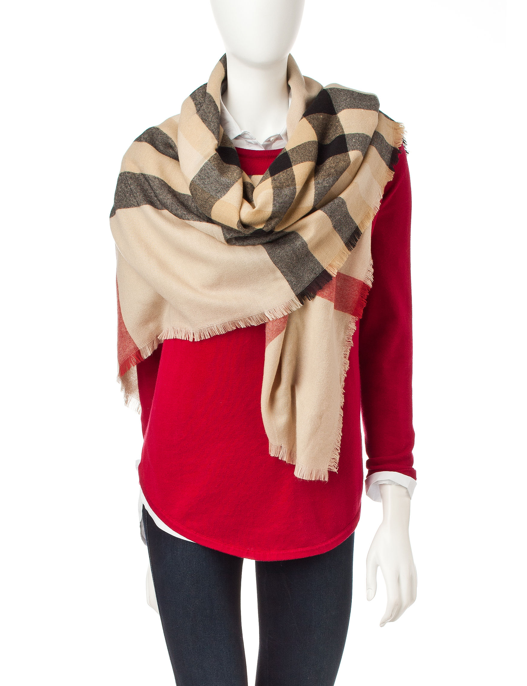 V. Fraas Beige Scarves & Wraps