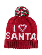 David & Young I Love Santa Pom Beanie