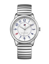 Tommy Hilfiger Table Silver-Tone Sport Bracelet Watch