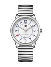 Tommy Hilfiger Table Silver-Tone Sport Bracelet Watch