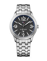 Tommy Hilfiger Table Sport Silver-Tone Black Dial Bracelet Watch