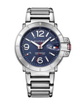 Tommy Hilfiger Turbo Silver-Tone Navy Dial Bracelet Watch