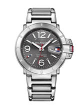 Tommy Hilfiger Turbo Silver-Tone Grey Dial Bracelet Watch
