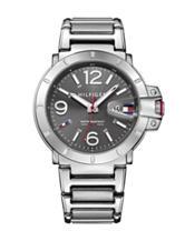 Tommy Hilfiger Turbo Silver-Tone Grey Dial Bracelet Watch