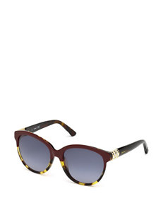 Swarovski Round Eleven Brown Gradient Sunglasses