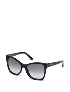 Swarovski Jet Hematite Crystal Cat Eye Sunglasses