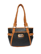 Rosetti Park Place Braided Handle Satchel