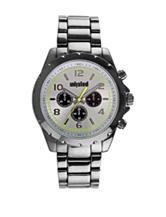 Unlisted Grey Dial Gunmetal-Tone Bracelet Watch