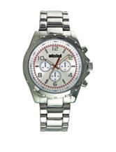 Unlisted White Dial Silver-Tone Bracelet Watch