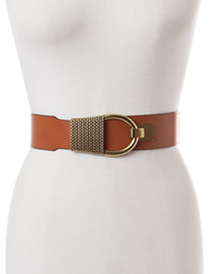 Steve Madden Brass-Tone Interlock Stretch Belt
