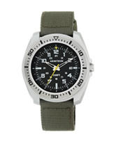 Armitron Black Dial Green Fast Strap Watch
