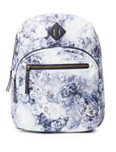 Madden Girl Watercolor Floral Print Canvas Backpack