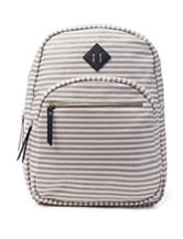 Madden Girl Metallic Striped Canvas Backpack