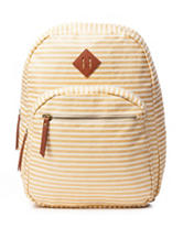Madden Girl Stripe Print Canvas Backpack