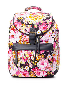 Madden Girl BBench Floral Print Canvas Backpack