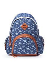 Madden Girl Ditsy Floral Print Canvas Backpack