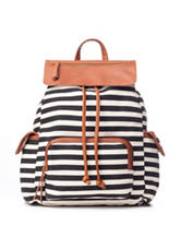 Madden Girl Trendz Striped Canvas Backpack