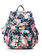 Madden Girl Floral Print Canvas Backpack