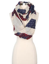Steve Madden Preppy Mixed Print Loop Scarf