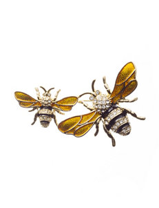 Napier Gold-Tone Bee Pin - Gift Boxed