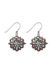 Marsala Black /  White Drops Earrings Fine Jewelry