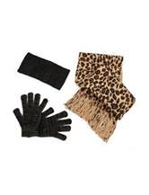 Cejon 3-pc. Metallic Leopard Print Winter Headband Set